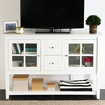 """WE Furniture 52"""" Console Table Wood TV Stand Console, ..."""