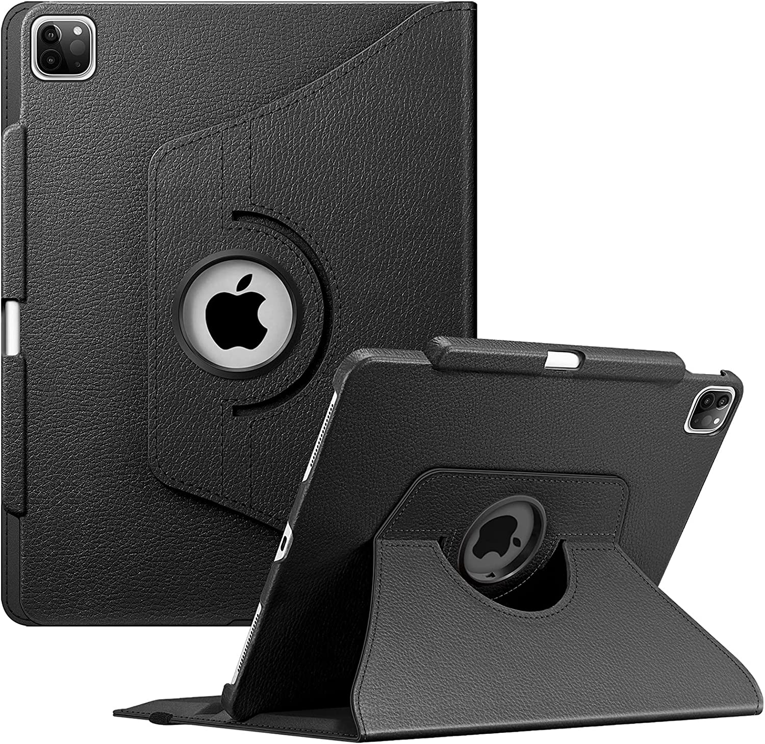 Fintie Rotating Case for iPad Pro 12.9-inch 5th Generation 2021 - 360 Degree Swiveling Protective Cover w/Pencil Holder Support Auto Sleep/Wake, Also Fit iPad Pro 12.9