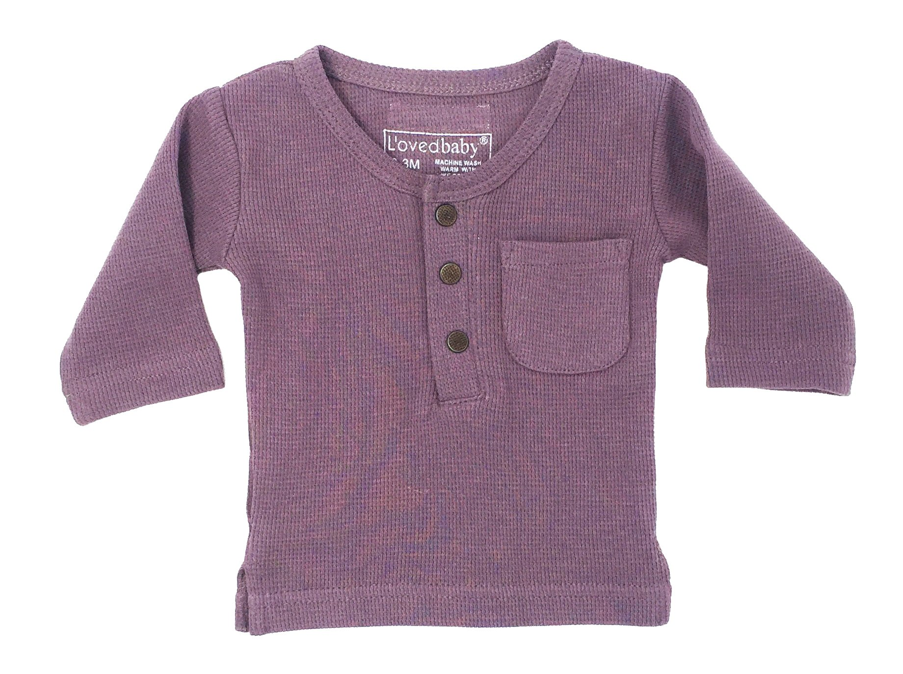 L'ovedbaby Unisex-Baby Organic Cotton Long Sleeve Shirt (Thermal Amethyst, 9-12 Months)