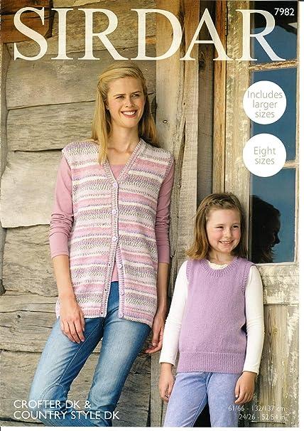"Sirdar DK Knitting Pattern Ladies Waistcoat Sleeveless Cardigan Size 34//36"""