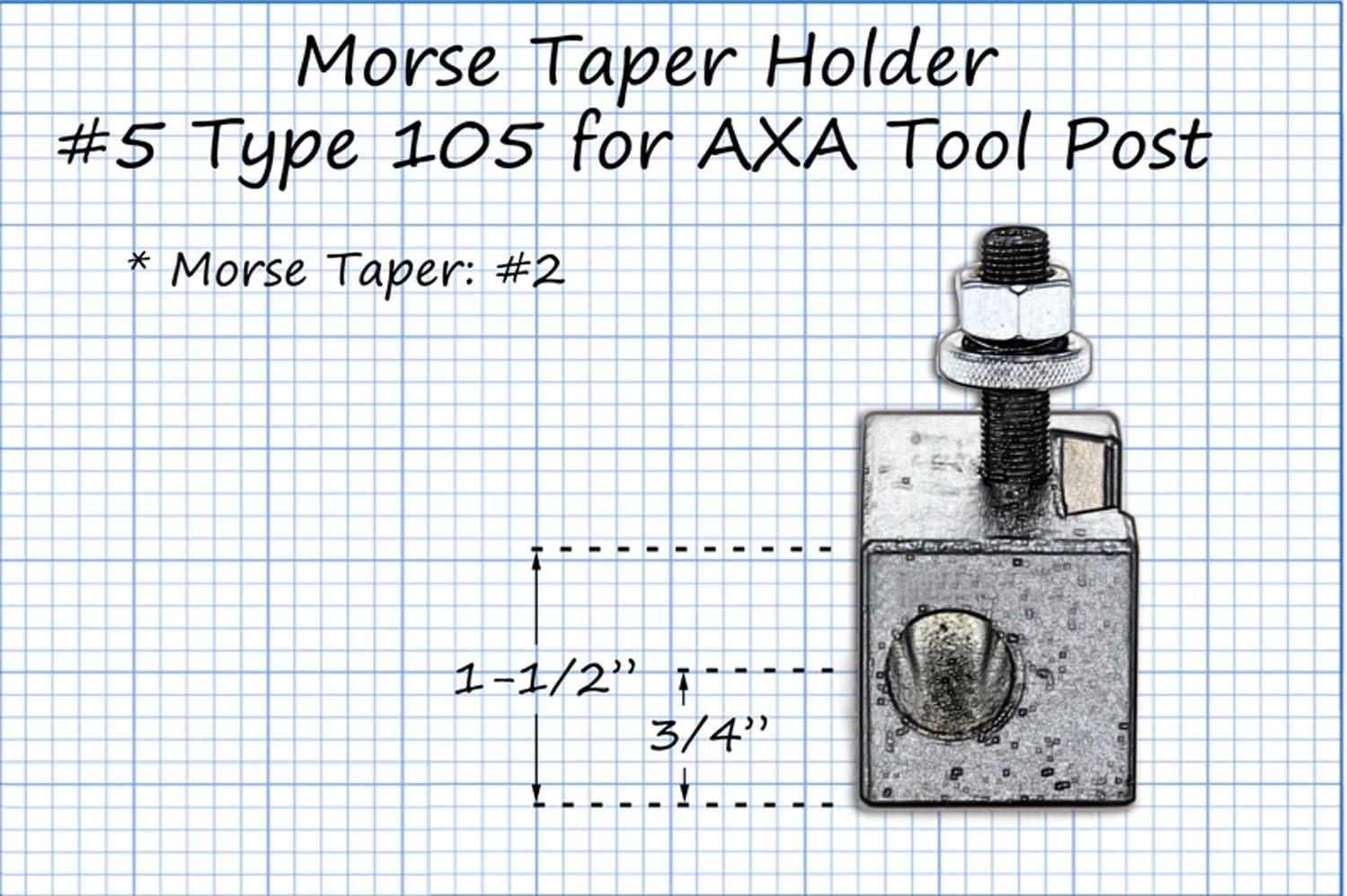 AXA #5 MT2 MORSE TAPER HOLDER FOR DRILLING CNC LATHE TOOL DRILL 250-105