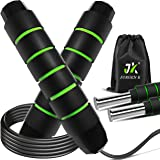Jump Rope,Jump Ropes for Fitness,Weighted Jump Rope Workout for Exercise,Tangle-Free Rapid Speed Skipping Rope with Ball Bear