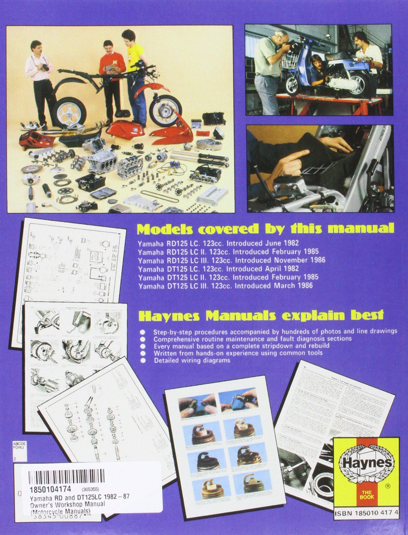 Yamaha Rd Dt125lc 82 87 Haynes Powersport Publishing Dt 125 Wiring Diagram 9781850104179 Books