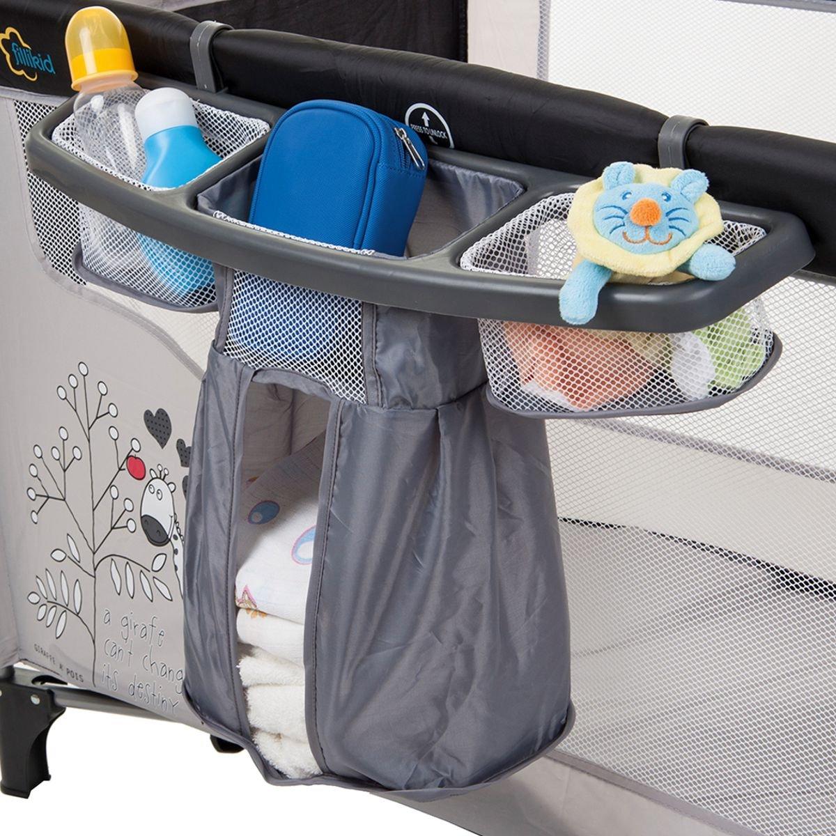 ORGANIZER / Staufächer für REISEBETT Kinderbett Kind Baby Bett Stimo24