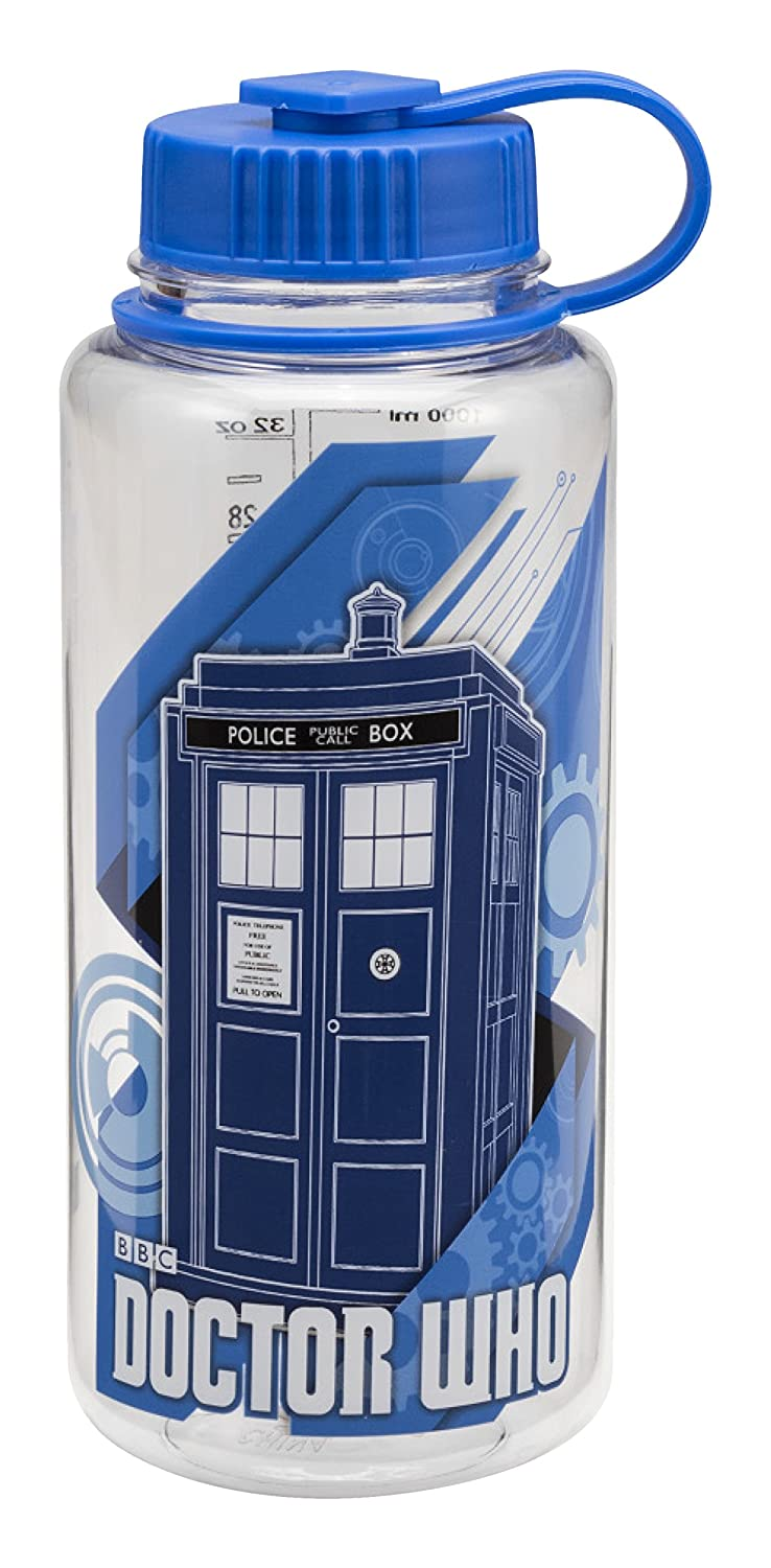 Vandor 16175 Doctor Who 32 Ounce Tritan Water Bottle, Blue School supply lunch