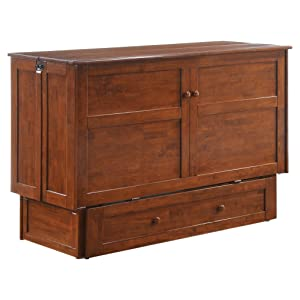 Night & Day Furniture Murphy Cabinet Bed with Mattress