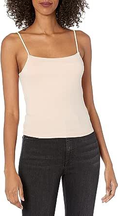 Marca Amazon - Kara Camiseta de tirante fino con escote cuadrado ajustada por The Drop