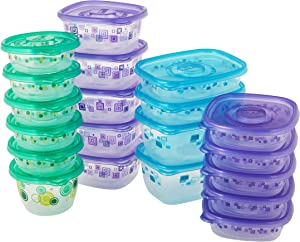 Glad Variety Pack Food Storage Containers, Large Variety-20, Clear, 20 Count