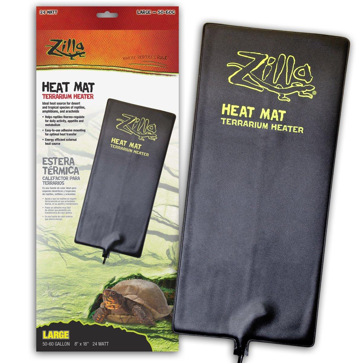 Zilla Reptile Terrarium Heat Mats, Large, 24 Watt