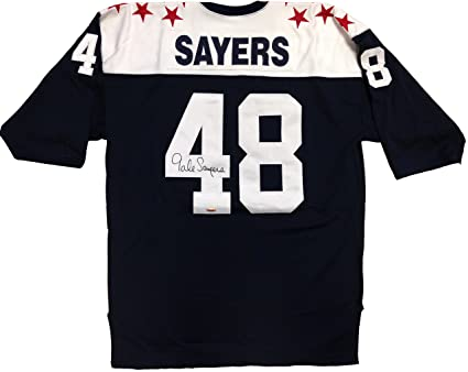 At signed Gale Amazon's Sports Jersey Autographed Collectibles All-star Sayers 1965 Football Store College