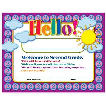 Amazon.com : Welcome to Second Grade Certificates 50 Pack ...