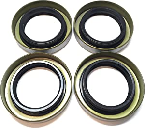 (Pack of 4) WPS Double Lip Trailer Axle Hub Grease Seals 1.68'' X 2.56'' X 0.500'' WPS 168255TB for 1 3/8'', L68149 Trailer Wheel Bearings