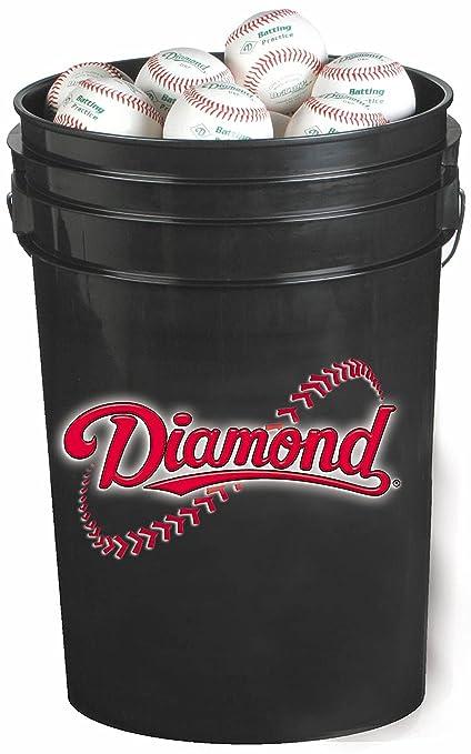 Diamond 6 Gallon Ball Bucket With 30 Dob Base Black