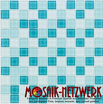 Glasmosaik Fliesen Turkis Grun Mix Wand Boden Dusche Wc Kuche 10