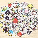 40pcs Creative Kawaii self-Made Love Sanrio Girl Stickers Beautiful Stickers/Decorative Sticker/DIY Craft Photo Albums