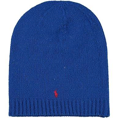 Ralph Lauren - Bonnet - Homme - Bleu - Taille Unique  Amazon.fr ... 206448ac7b4