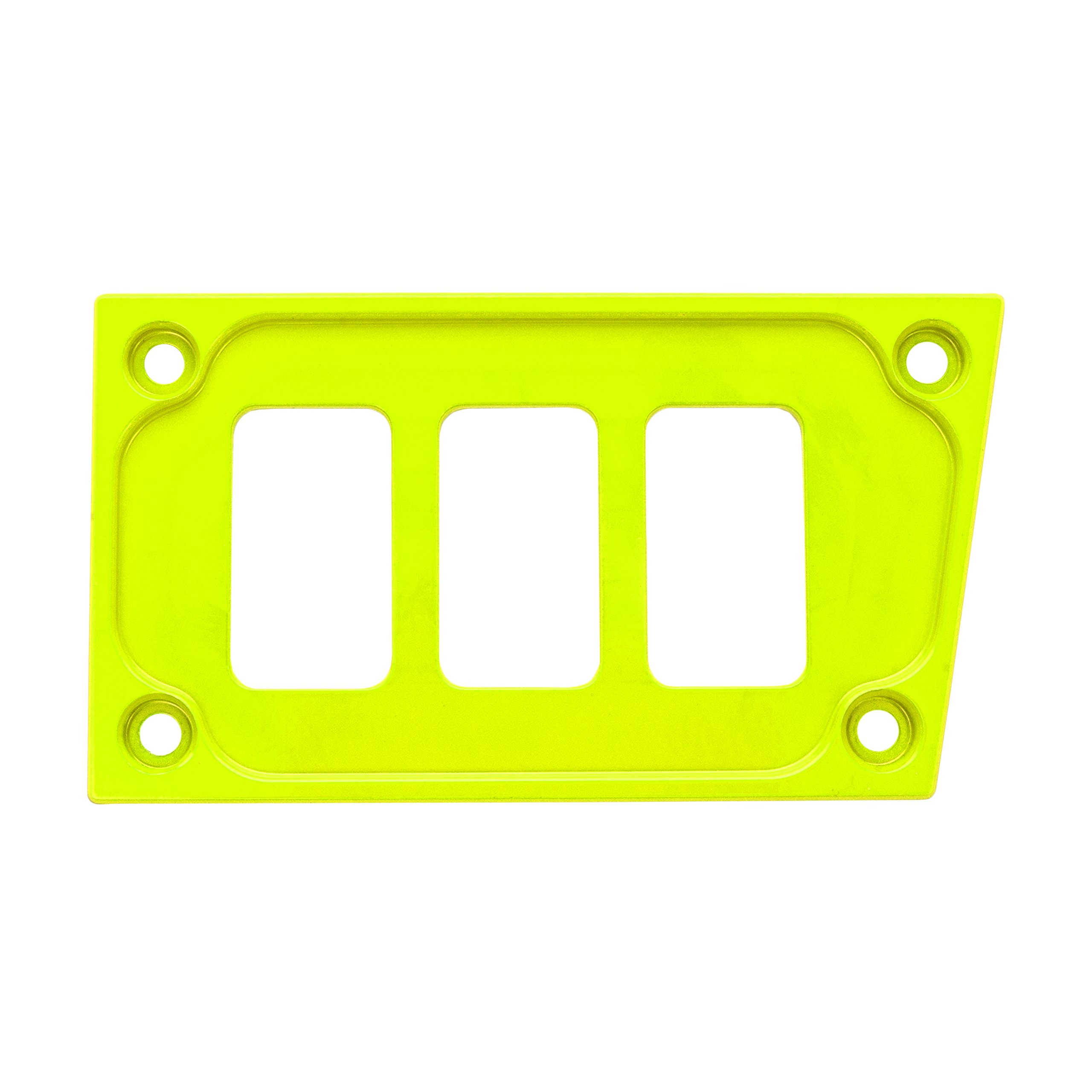 STV Motorsports Custom Aluminum Lower Left Dash Panel for Polaris RZR XP 1000 with 3 Switch Openings (no switches included) (Lime)