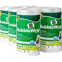 """Duck Brand Bubble Wrap Roll, Original Bubble Cushioning, 12"""" x 180', Perforated Every 12""""- 1 Pack"""