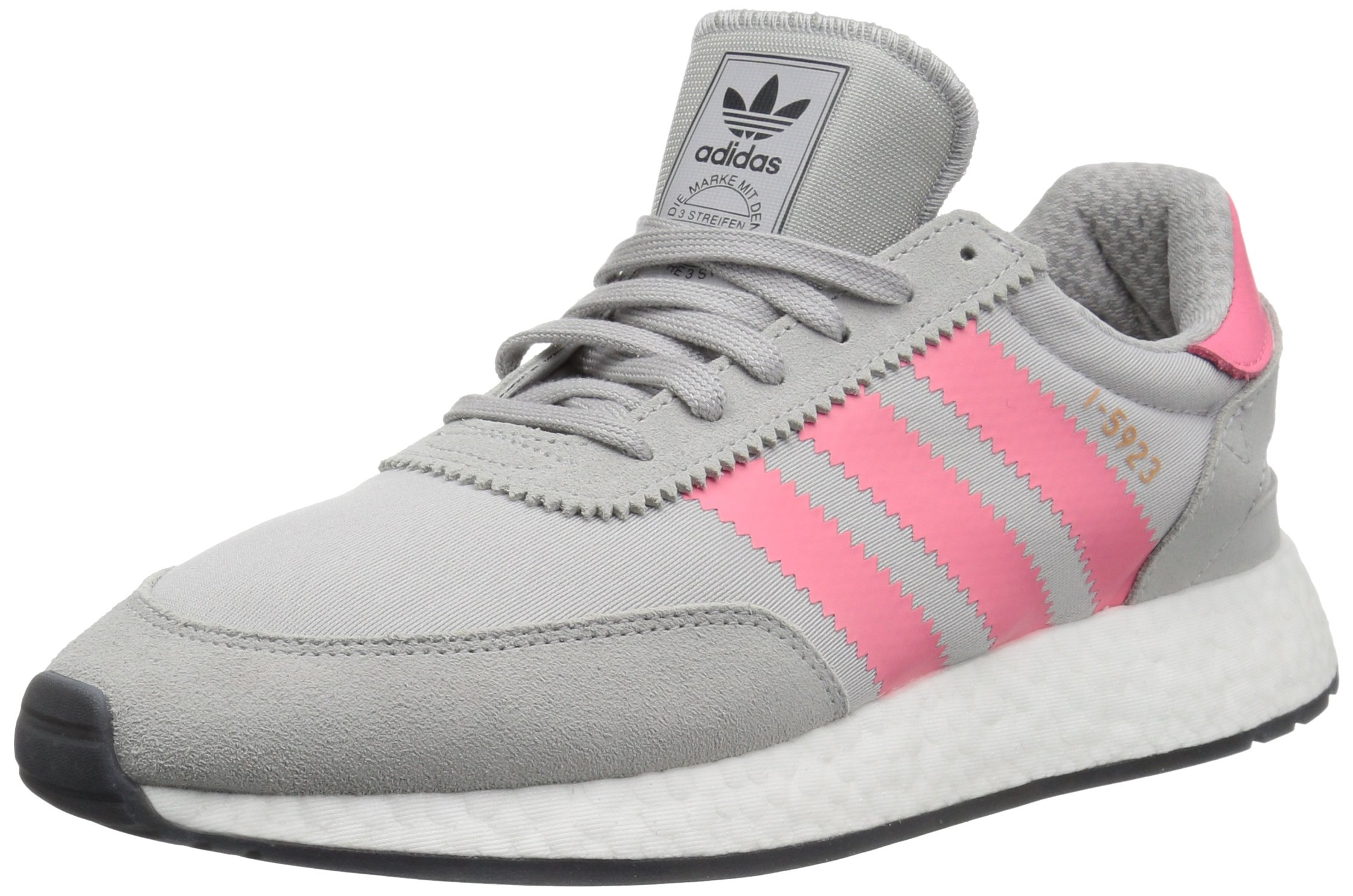 4bb553ed29bae adidas Originals Women's I-5923 Running Shoe, Grey/Chalk Pink/Black, 11 M US