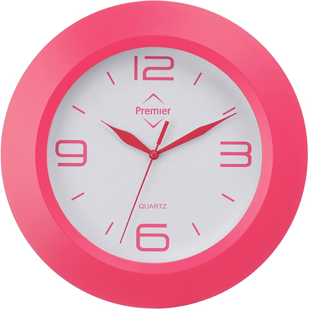 Premier Housewares Wall Clock Pink