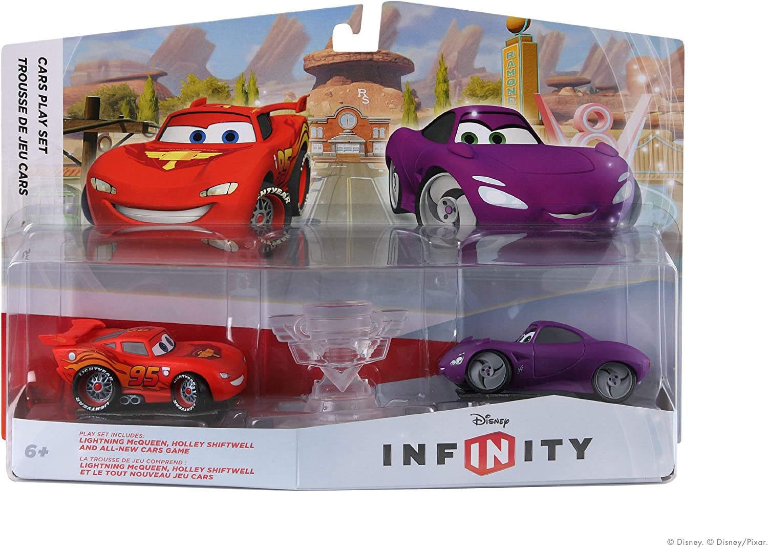 amazon com disney infinty cars playset pack lightning mcqueen and