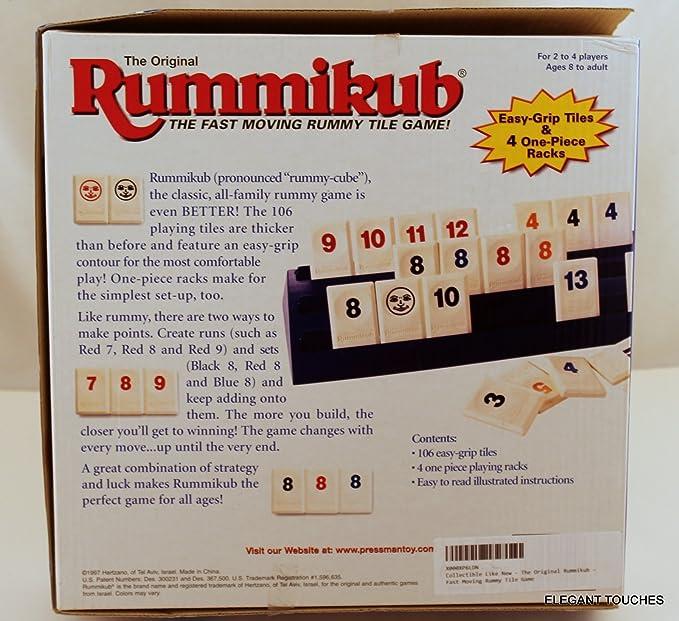 Amazon The Original Rummikub Fast Moving Rummy Tile Game