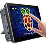 Raspberry Pi Touchscreen Monitor 7'' Display with Case, Fan & Stand Featured Accurate 10-Point Touch, Heat Sink, Ultra Wide I