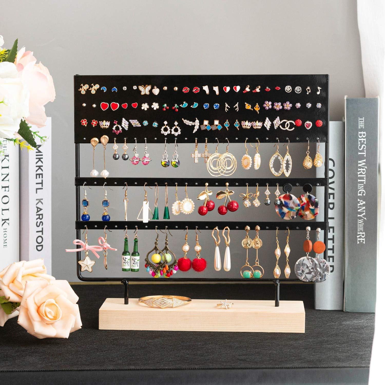 30 x 30 cm Noir QILICZ Pr/ésentoir /à bijoux avec 144 trous pour boucles doreilles et boucles doreilles