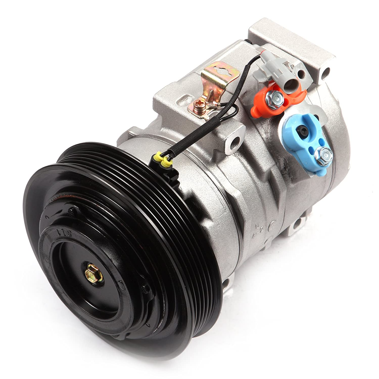 AC Compressor and A/C Cluth ECCPP CO 27000C Automotive Replacement Compressor Assembly for 2003-2008 Toyota Corolla 1.8L 104005-5211-1615262