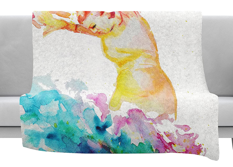 60 x 40 Fleece Blankets Kess InHouse Cecibd Espana I Multicolor People Throw