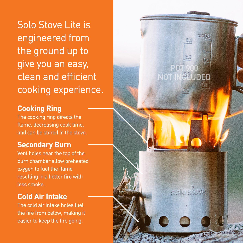 Amazon.com : Solo Stove Lite - Compact Wood Burning Backpacking ...