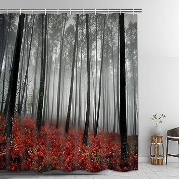 Modern Timesm Mystic Forest Badezimmer Vorhang Langlebig