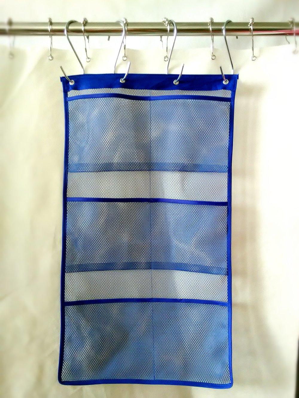 Amazon.com: ALYER 6 Storage Pockets Hanging Mesh Shower Caddy,Space ...