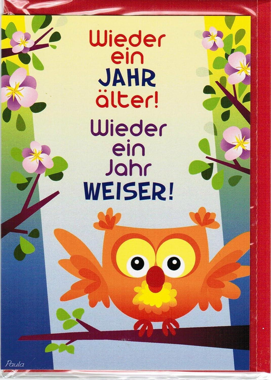Geburtstagskarte mit Briefumschlag - Wieder ein Jahr älter! Wieder ...
