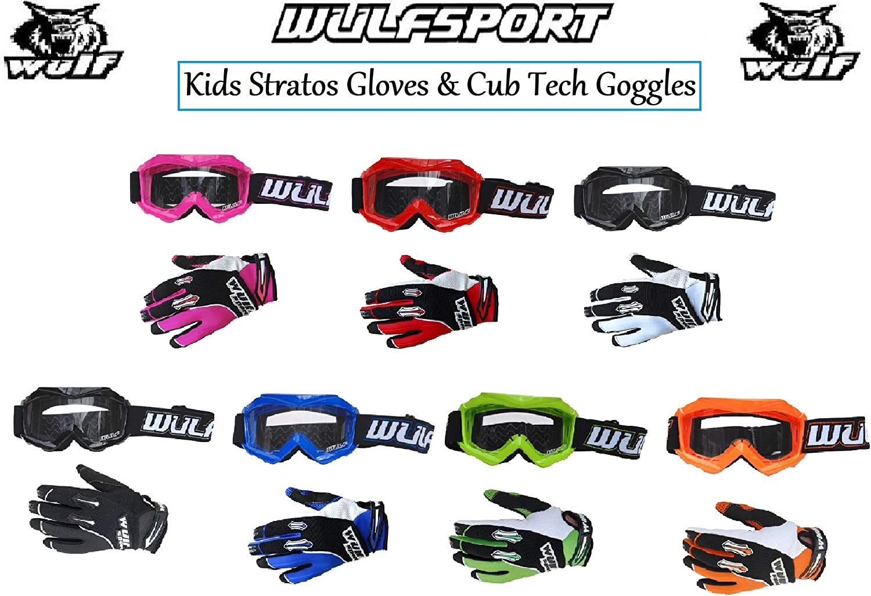 Wulf MOTORBIKE WULFSPORT CUB KIDS JUNIOR GOGGLES Motorcycle Motocross Quad MX ATV Sports Goggles