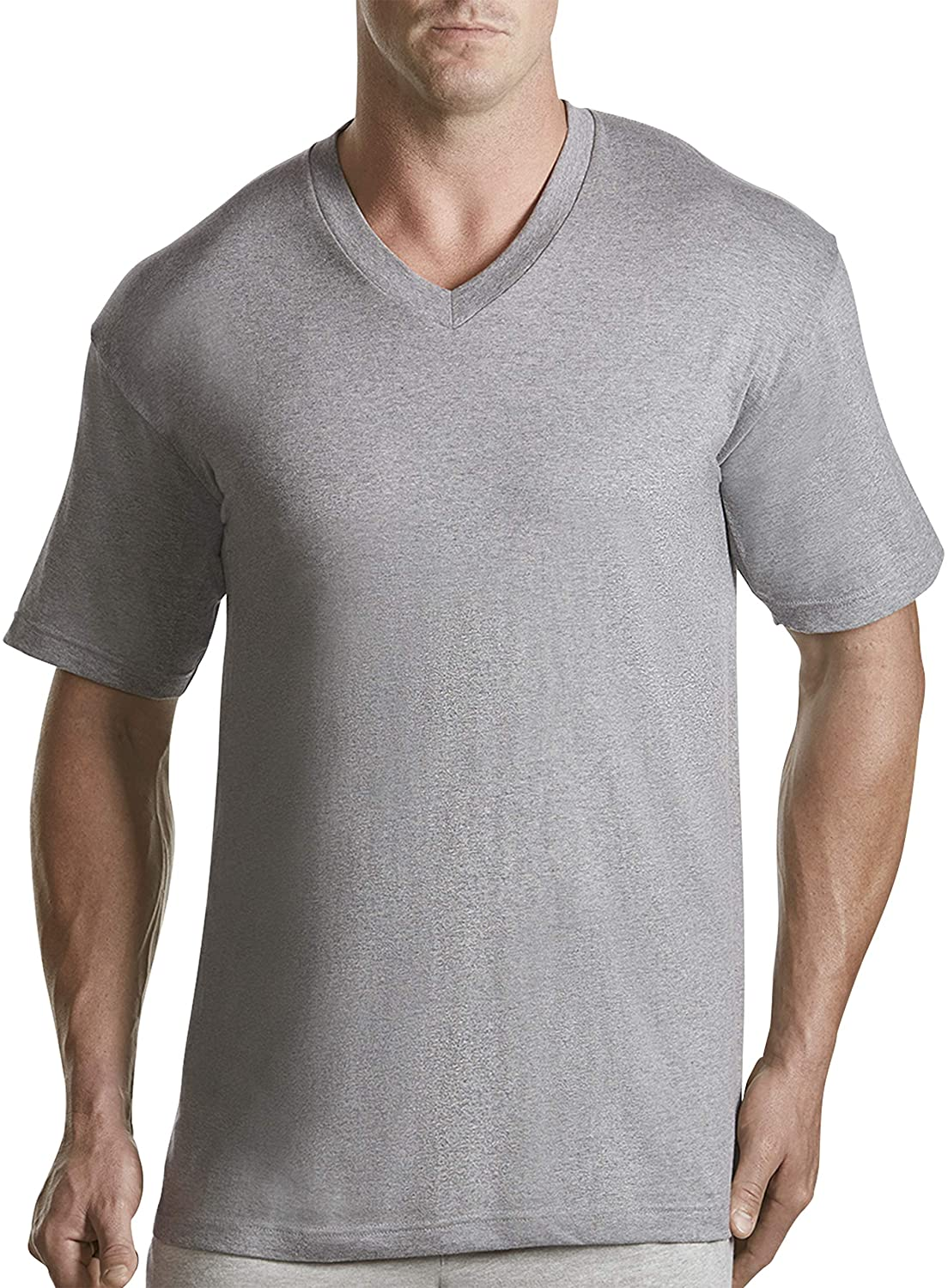 Harbor Bay by DXL Big and Tall 3-Pack V-Neck T-Shirt
