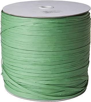 Lime Jillson Roberts .25 x 1000 Yard Bulk Spool Paper Raffia Ribbon Available in 16 Colors