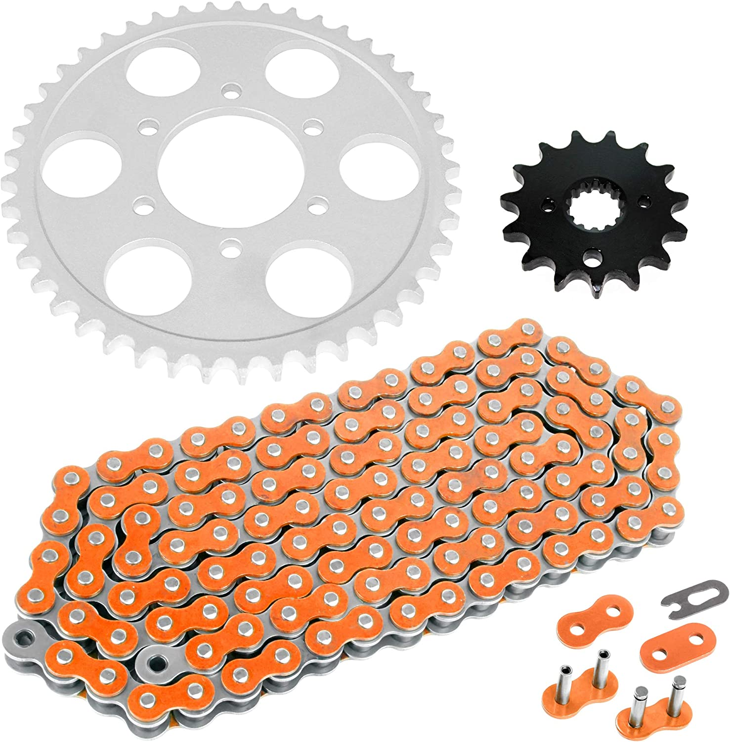 Caltric Drive Chain and Sprockets fits SUZUKI GSF1200 GSF 1200S Bandit 1200 1995-2005