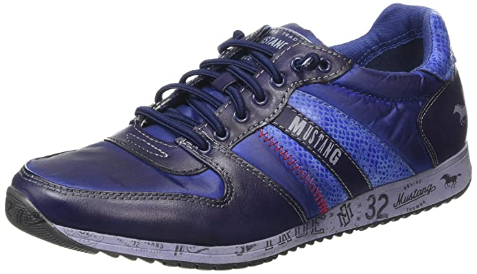 1226-401, Sneakers Basses - Femme - Bleu (800 Dunkelblau) - 42Mustang