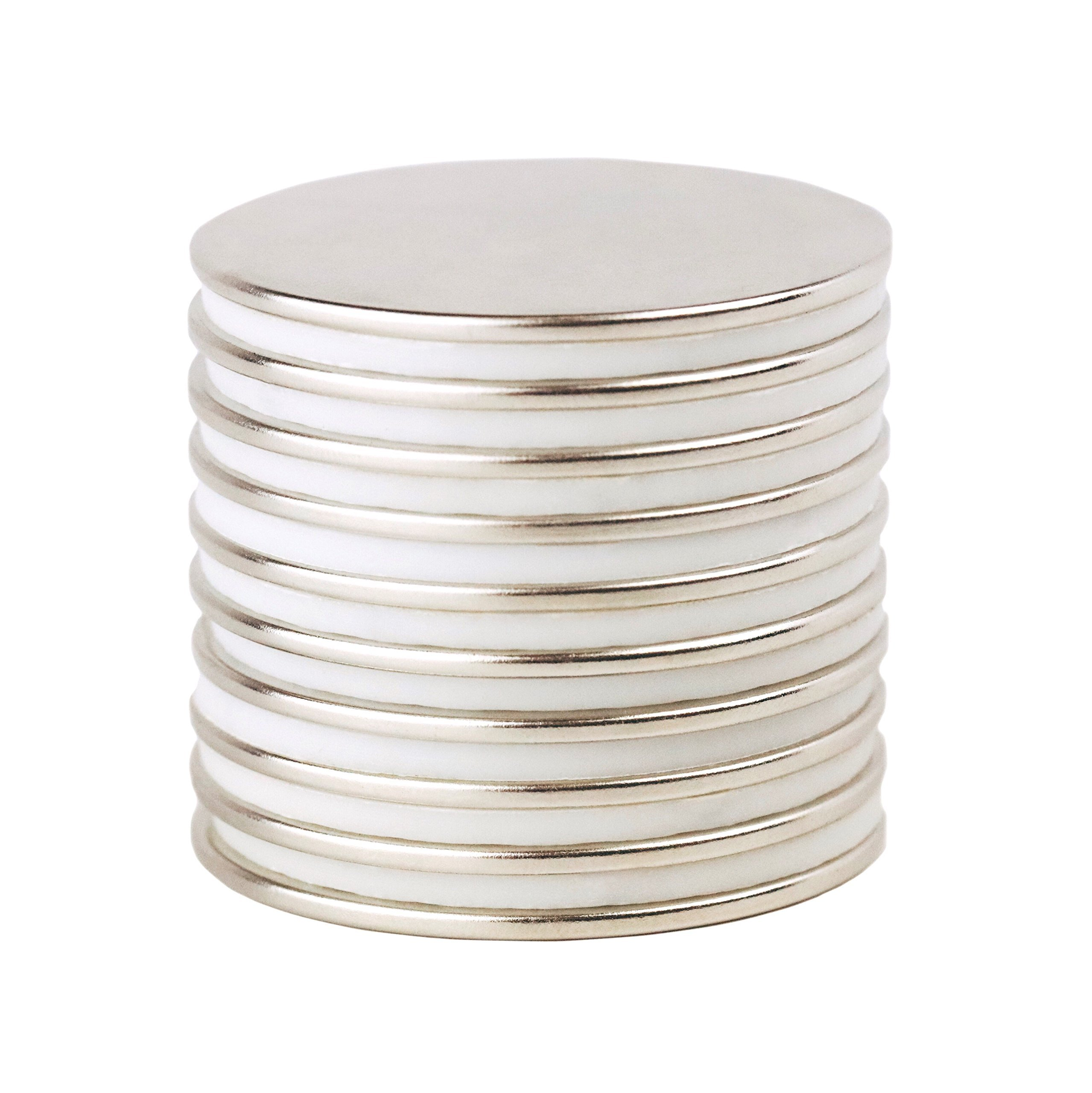 NeoSport 1.5 x 1/16 Inch N45 Neodymium Magnets NdFeB, (Pack of 10)
