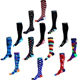 Compression Socks (1 pair) for Men & Women by INFINITY - BEST for Running, Nurses, Shin Splints, Flight Travel, Skiing & Maternity Pregnancy - Boost Athletic Stamina & Recovery