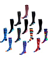 Compression Socks (1 pair) for Men & Women by INFINITY - BEST for Running, Nurses, Shin Splints, Flight Travel, & Maternity Pregnancy - Boost Athletic Stamina & Recovery