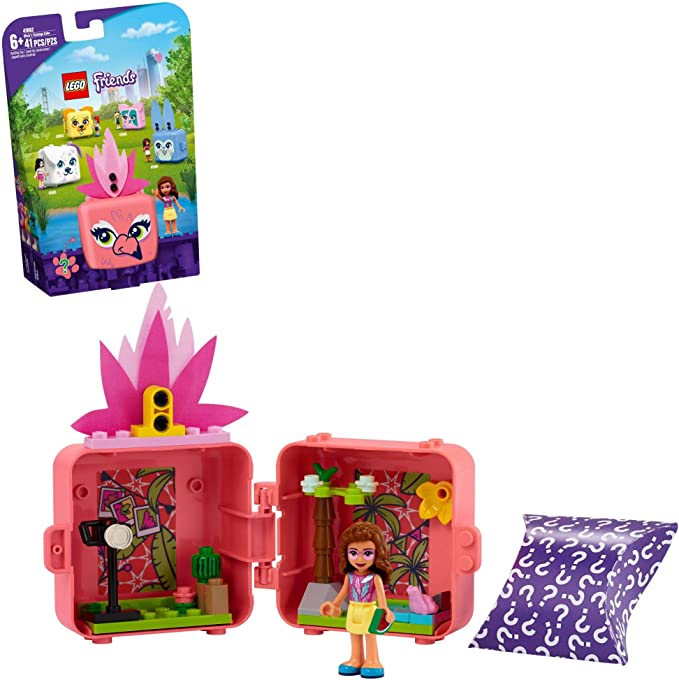 LEGO Friends Olivia's Flamingo Cube 41662 Building Kit; Includes Flamingo Toy and Mini-Doll Toy; Portable Playset Makes Great Creative Gift, New 2021 (41 Pieces) | Amazon