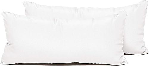 TK Classics PILLOW-WHITE-R-2x Pillows Patio Furniture, Sail White
