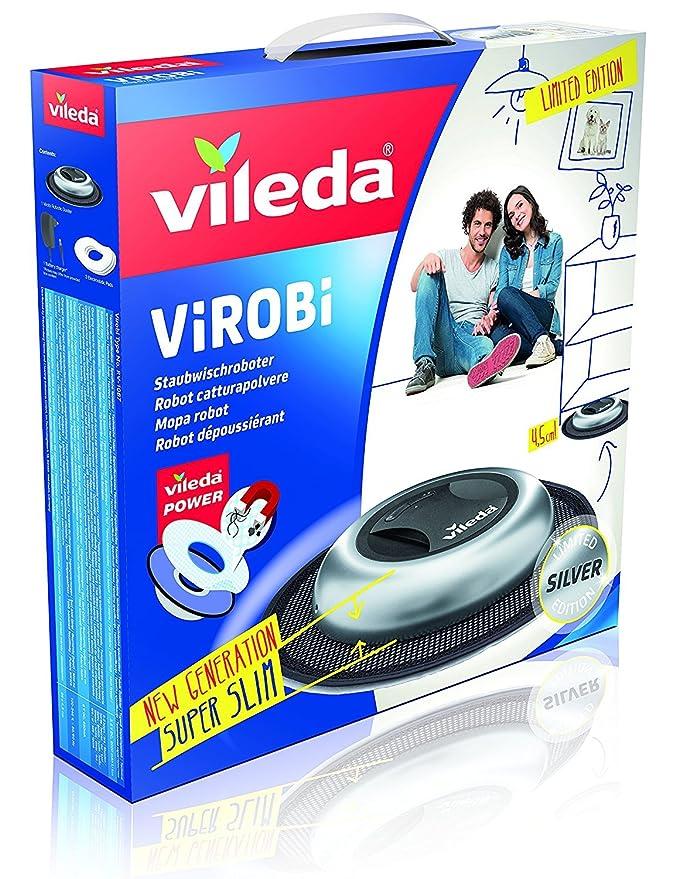 Vileda Virobi Robot Limpiador mopa autónomo, Plástico, Plateado: Amazon.es: Hogar