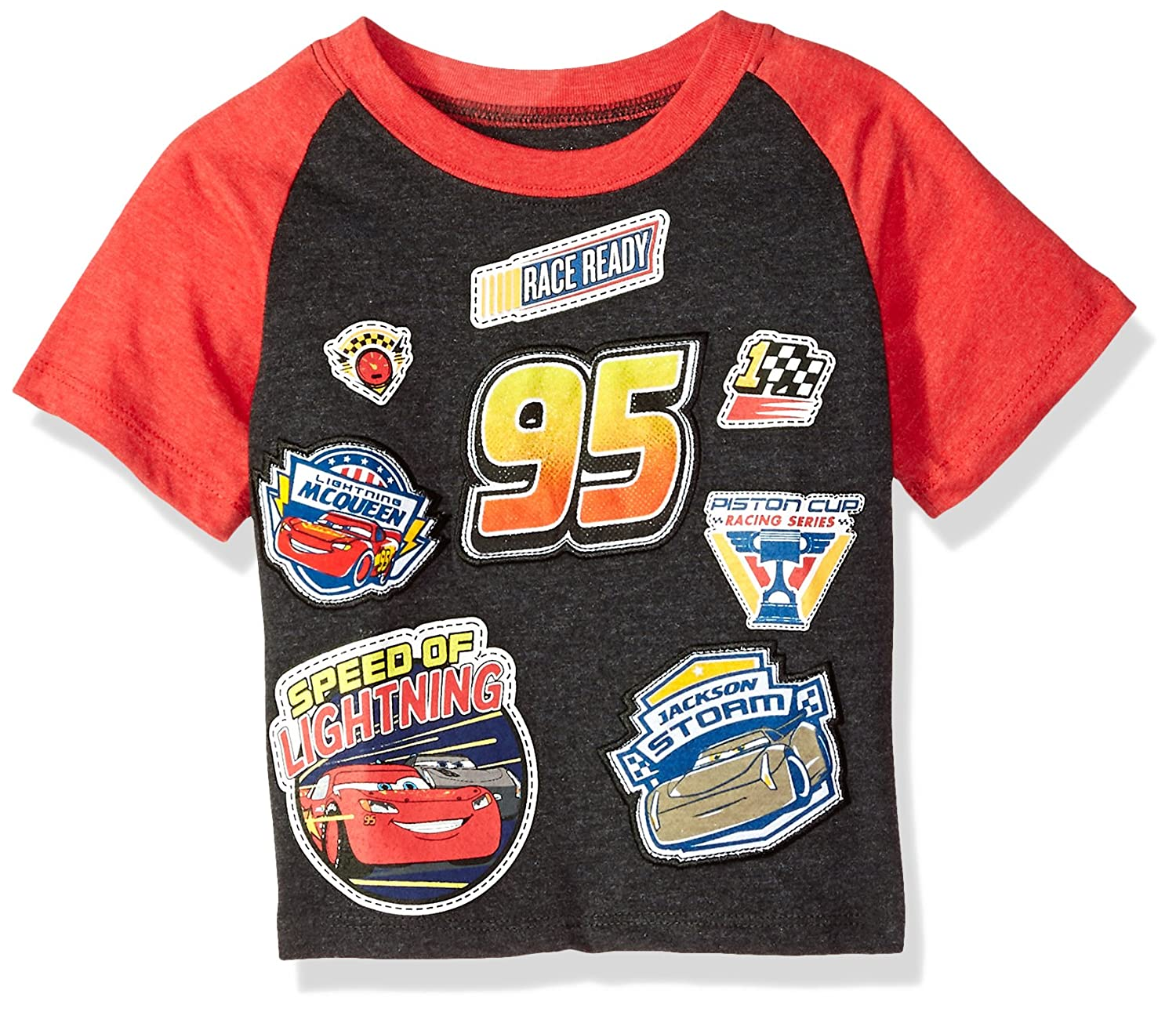 f213596bc662 Cars Boys Patch Toddler Boys Short Sleeve T-Shirt T-Shirt: Amazon.ca:  Clothing & Accessories