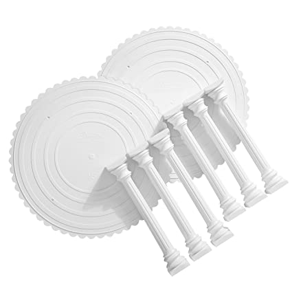 Wilton - Bandeja para tartas con columnas romanas