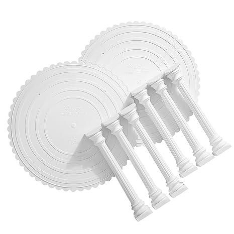 Amazon.com: Wilton Roman Column Tiered Wedding Cake Stand, 8-Piece ...