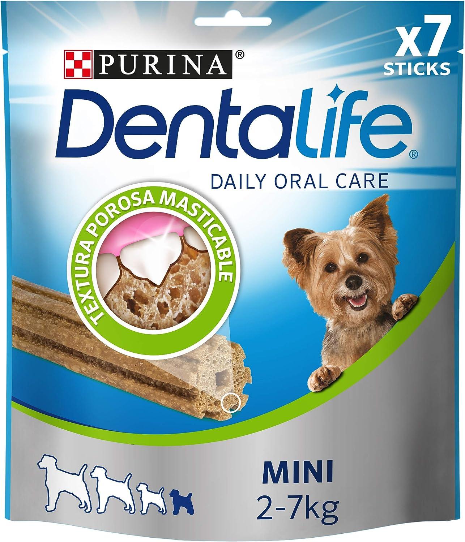 Nestlé Purina Dentalife Snacks y chuches dentales para Perros Mini 69 g - Pack de 5