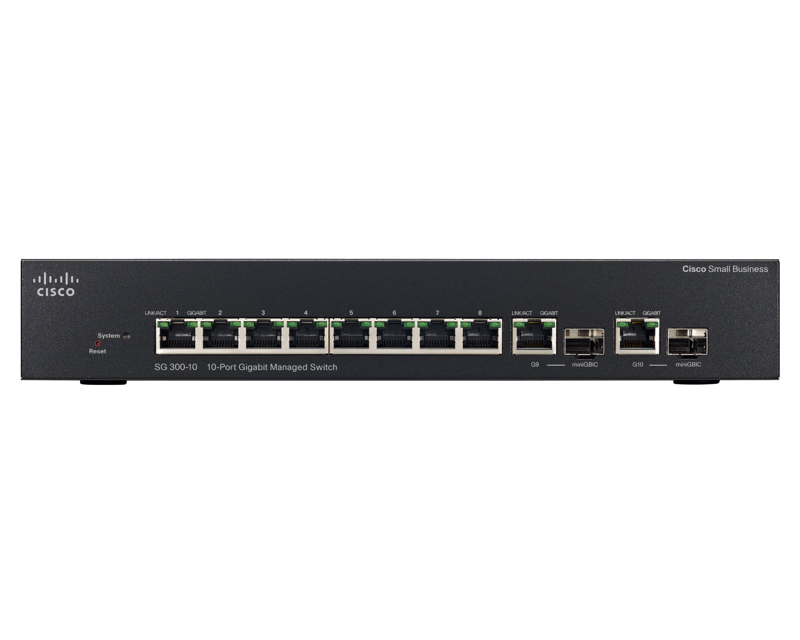Cisco SG300-10 10-port Gigabit Managed Switch (SRW2008-K9-NA)